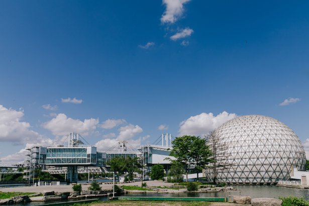 A view of Ontario Place