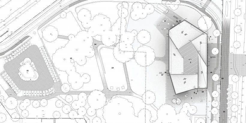 Renderings of the Bauhaus Museum Dessau Competition from Ja Architecture Studio