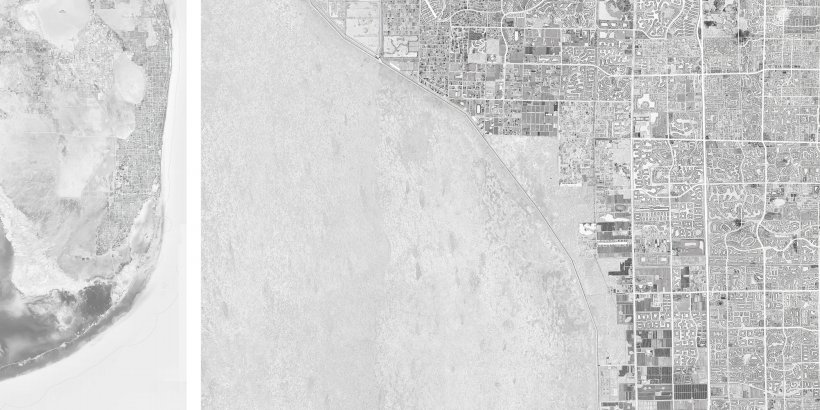 South Florida's urban fabric is surrounded by water on three sides. Images by Fadi Masoud.
