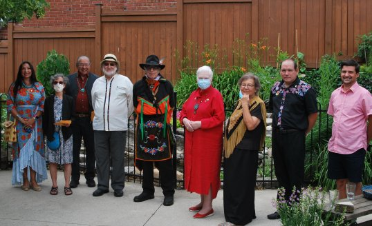 james bird participates in an event on indigenous peoples day