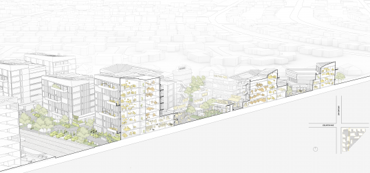 The mid-rise building proposed along Eglinton Avenue by Power and Place.