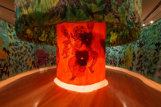 The interior of Ed Pien's Earthly Delights