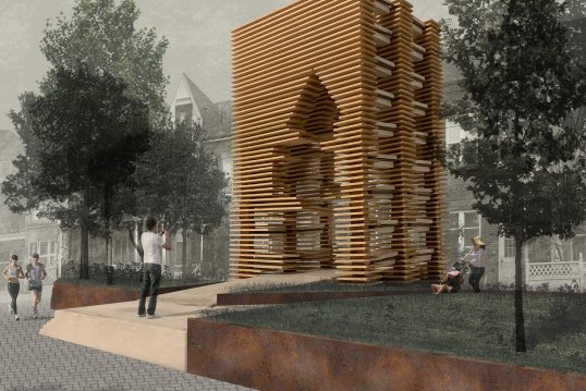 A rendering of Massimo Giannone's pavilion