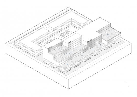 Drawing of a residential building