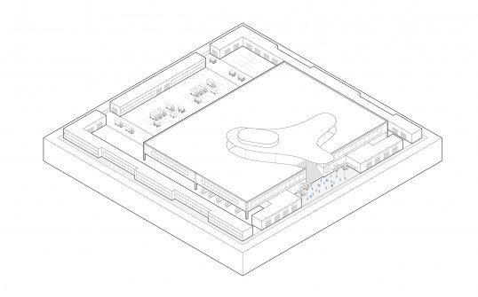 Drawing of the group's food terminal