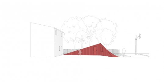 Drawing of one of Mohammad Bayati's design interventions