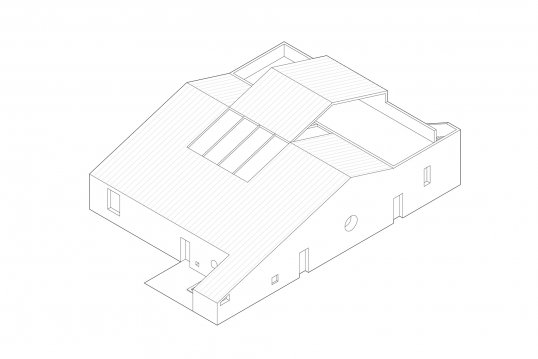 An axonometric view of To Bathe in the Open