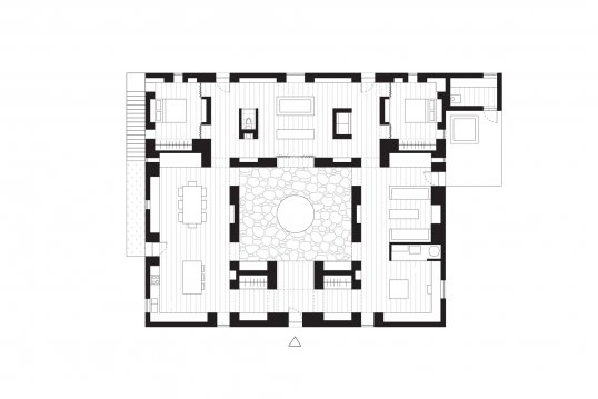A floor plan of To Bathe in the Open