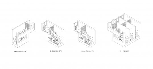 Views of the interiors of residential units in Tom Tran's building