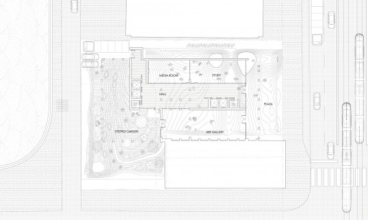 Plan of the ground floor of Tom Tran's building