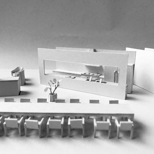 A model of the interior of Yuki's house